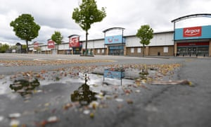 An empty shopping centre carpark in Bradford during lockdown.