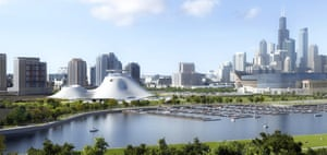The proposed Lucas Museum of Narrative Art on Chicago's waterfront.