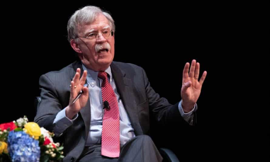 Former national security adviser John Bolton on stage at Duke University in Durham, North Carolina.