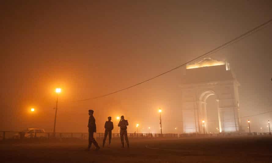 Smog in New Delhi, India, on Sunday