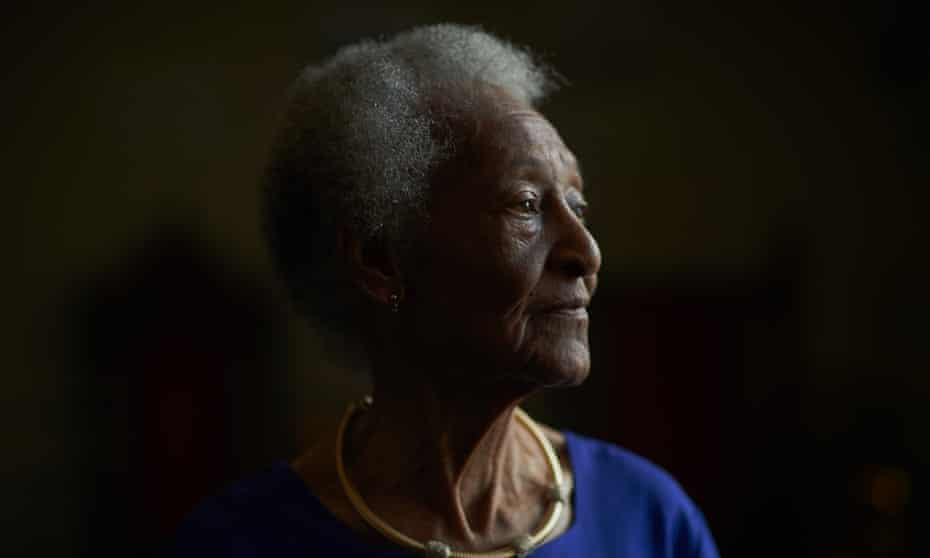 Thelma Edwards, 88, the oldest living relative of Emmitt Till, poses for a portrait at the Marion County Black History Museum on Thursday afternoon, March 12, 2020 in Ocala, Florida.
