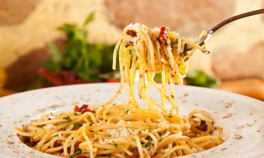 Spaghetti aglio e olio … a classic.