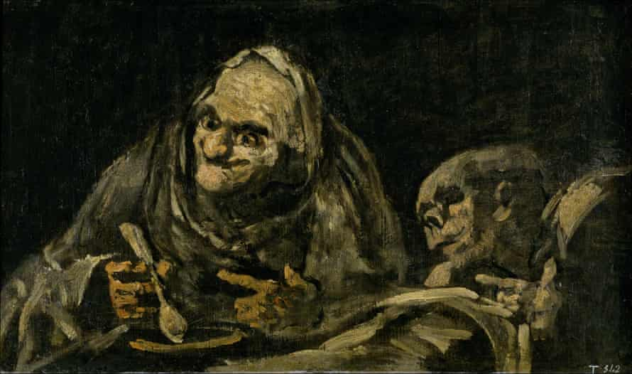 Two Old Men Eating Soup (The Witchy Brew) by Goya.