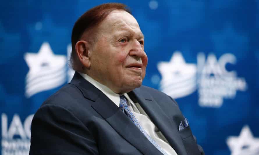 Sheldon Adelson seen in 2019.