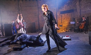 Sharon Small in Carmen Disruption by Simon Stephens at the Almeida.
