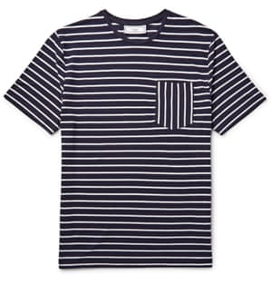 navy and white stripe t-shirt