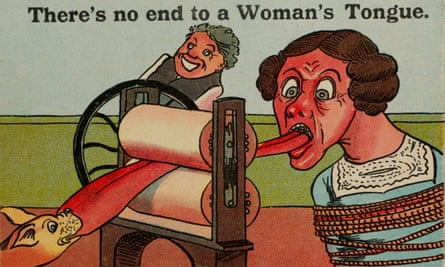 An anti-suffragette, misogynistic postcard from the collection of the Glasgow Women's Library