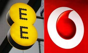 EE and Vodafone recorded the worst scores​ for customer satisfaction in the Which? survey.