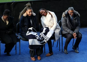 Cyrille Regis's family during the memorial service for the former England and West Brom and footballer.