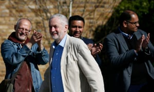 Jeremy Corbyn arrives for an election campaign poster launch in London