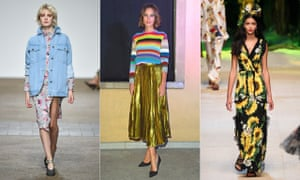 21376789363 Bright and beautiful  (l-r) Eighties-style denim at Topshop Unique  Gucci s