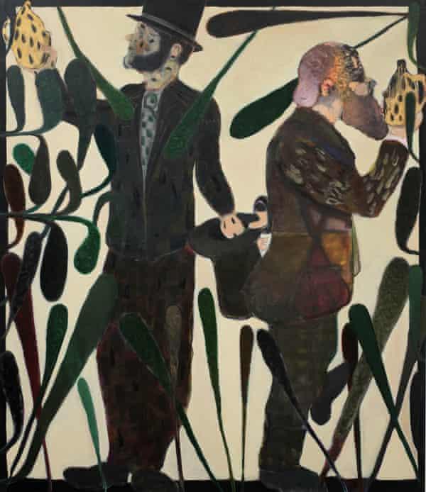 Ryan Mosley's painting Piano Tuners, 2011.