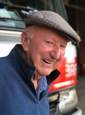 Clint Bawden, 81, who has retired after fighting fires for decades