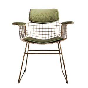 Green comfort kit, £39, and wire chair, £325, roseandgrey.co.uk