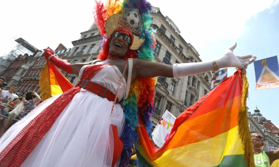 A parade goer at Pride In London on 7 July 2018.