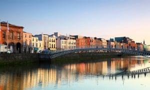 Ha'penny Bridge in DublinHa'penny Bridge is pedestrian bridge built in 1816 over River Liffey in Dublin, Ireland.