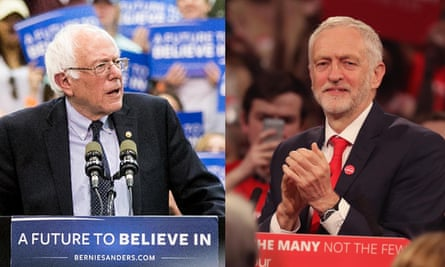 Democratic party presidential candidate Bernie Sanders and Labour party leader Jeremy Corbyn