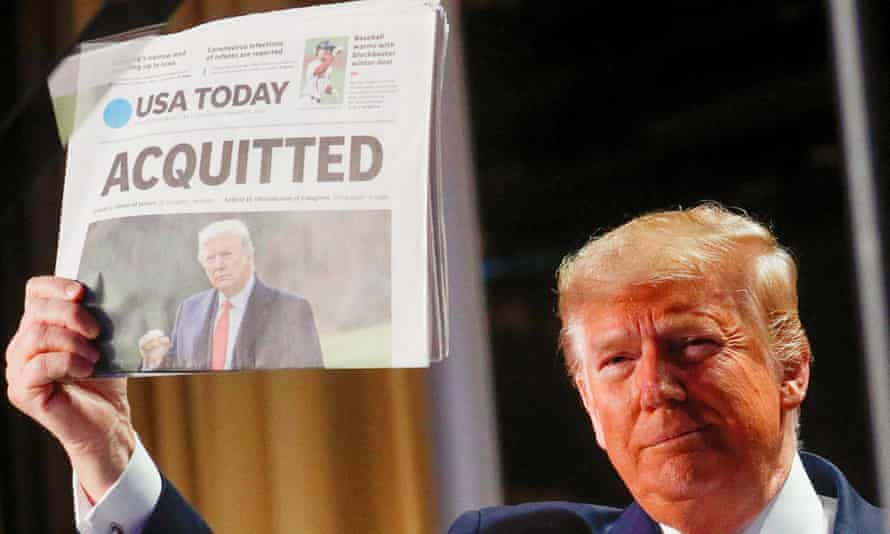 trump with USA TODAY cover