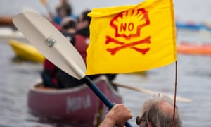 A protest in Seattle against Shell's Arctic plans. 'We were acutely aware of the reputational element to this programme,' a Shell source said.