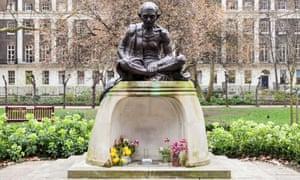 Ripe for removal? … a statue of Gandhi in Tavistock Square, London.