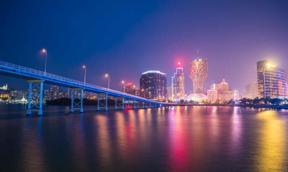 The night skyline in Macau