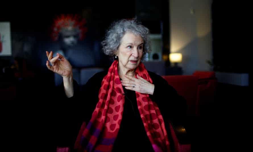 Margaret Atwood speaks at a hotel in Havana, Cuba.