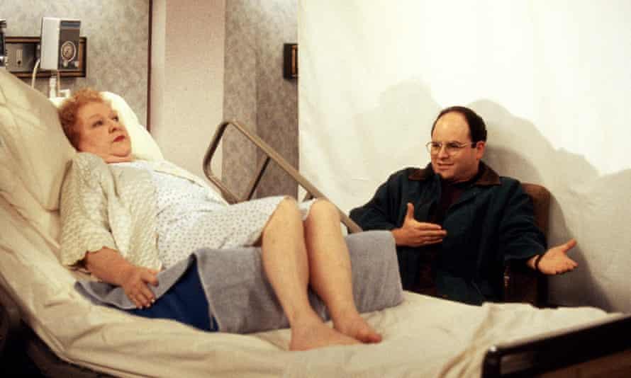 Estelle Harris as Estelle Costanza and Jason Alexander as George Costanza.