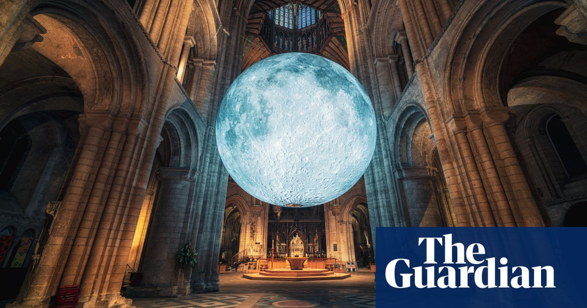 England's cathedrals host art from Sheffield steel to a model moon