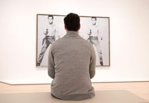 Brand-name extravagance: a viewer with Triple Elvis by Andy Warhol.