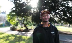 Corey, who has experienced homelessness