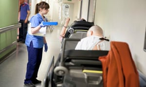 Patients waiting for spaces in an A&E unit