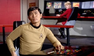 George Takei as Hikaru Sulu in the original Star Trek series.