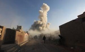 Iraqi forces in the el-Hoz neighbourhood