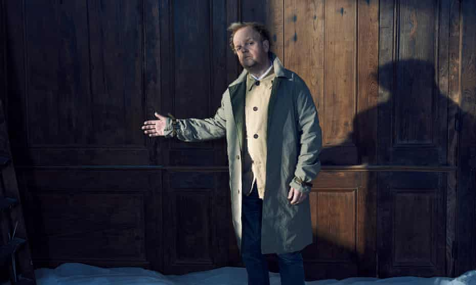 Scene stealer: Toby Jones wears mac by Garbstore from couvertureandthegarbstore.com; jacket by universalworks.co.uk and shirt by oliverspencer.co.uk.