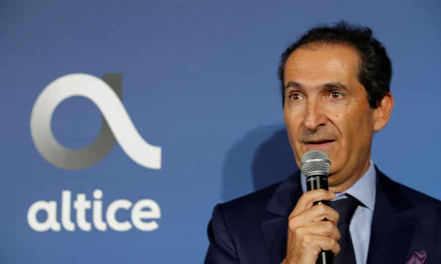 Patrick Drahi, the Franco-Israeli businessman and founder of Altice Group, France's second-largest telecoms firm.