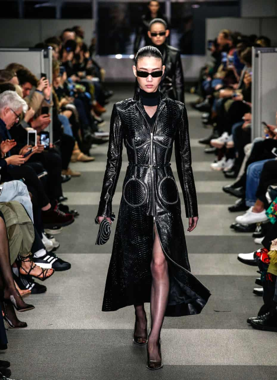 Alexander Wang channeled The Matrix at his AW18 fashion shows.