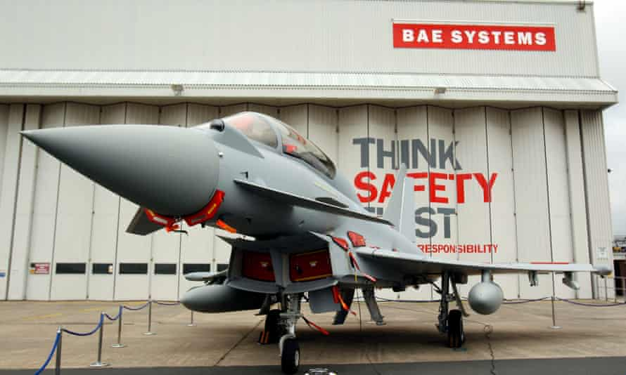 A Eurofighter Typhoon at BAE Systems' site at Warton, Lancashire.