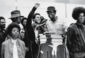 Huey Newton Speaks At Revolutionary People's Party Constitutional Conventionin 1970.