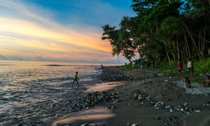 Sunset on Savo island, which locals fear could be leased to a Chinese company along with neighbouring Tulagi.