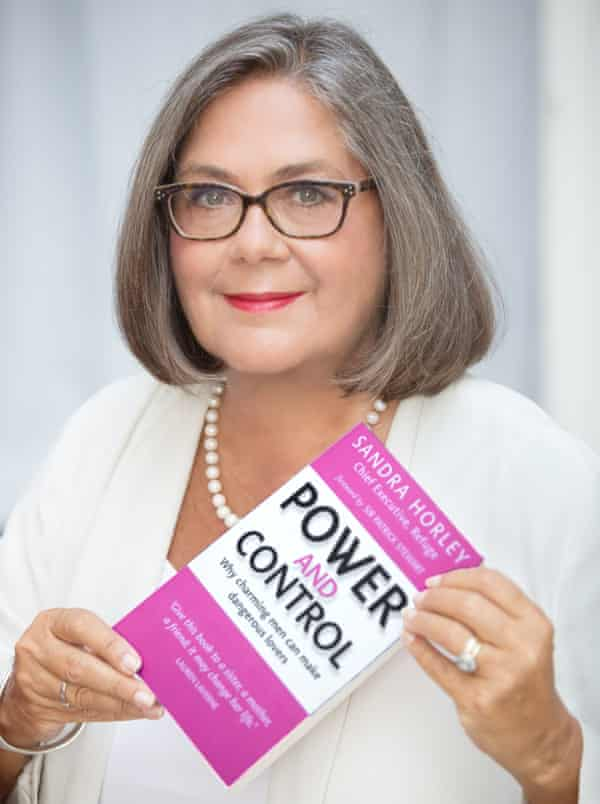 Sandra Horley with her book, Power and Control.