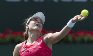 Great Britain's Johanna Konta overcame a nervous start and finish to beat her compatriot Heather Watson.