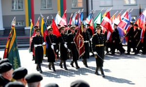 Lithuanian soldiers in Vilnius on the 15th anniversary of the country's Nato membership last week.