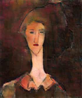 Modigliani's 'hidden' portrait of Beatrice Hastings.