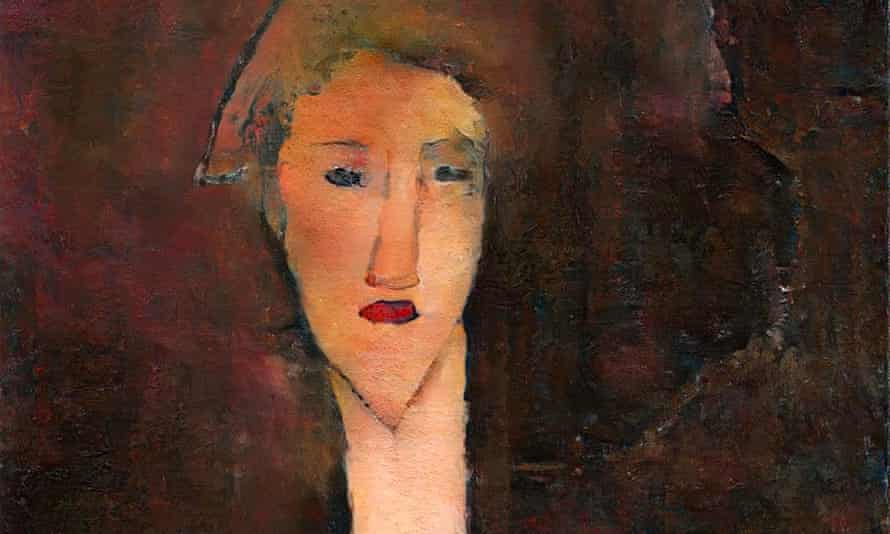 A re-creation of Modigliani's 'hidden' portrait of Beatrice Hastings, created by Oxia Palus using AI techniques.