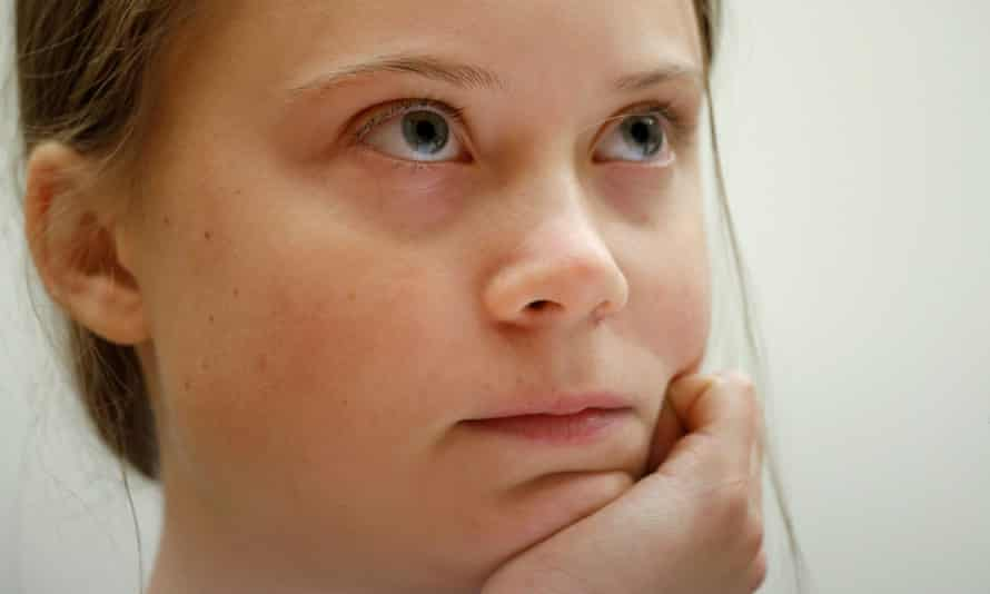 Greta Thunberg gives evidence before a US congressional committee last month.
