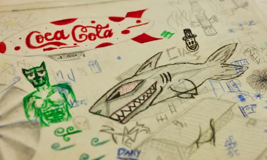 a canvas by Italian schoolchildren.
