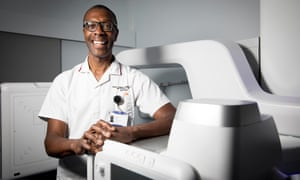 Leslie Gabriel, superintendent radiographer at King's College hospital in south London.