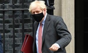 Boris Johnson in Downing Street