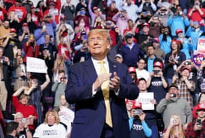 Trump at a rally in Colorado Springs on Thursday night. Trump has reportedly empowered Johnny McEntee to identify those perceived as 'bad people'.