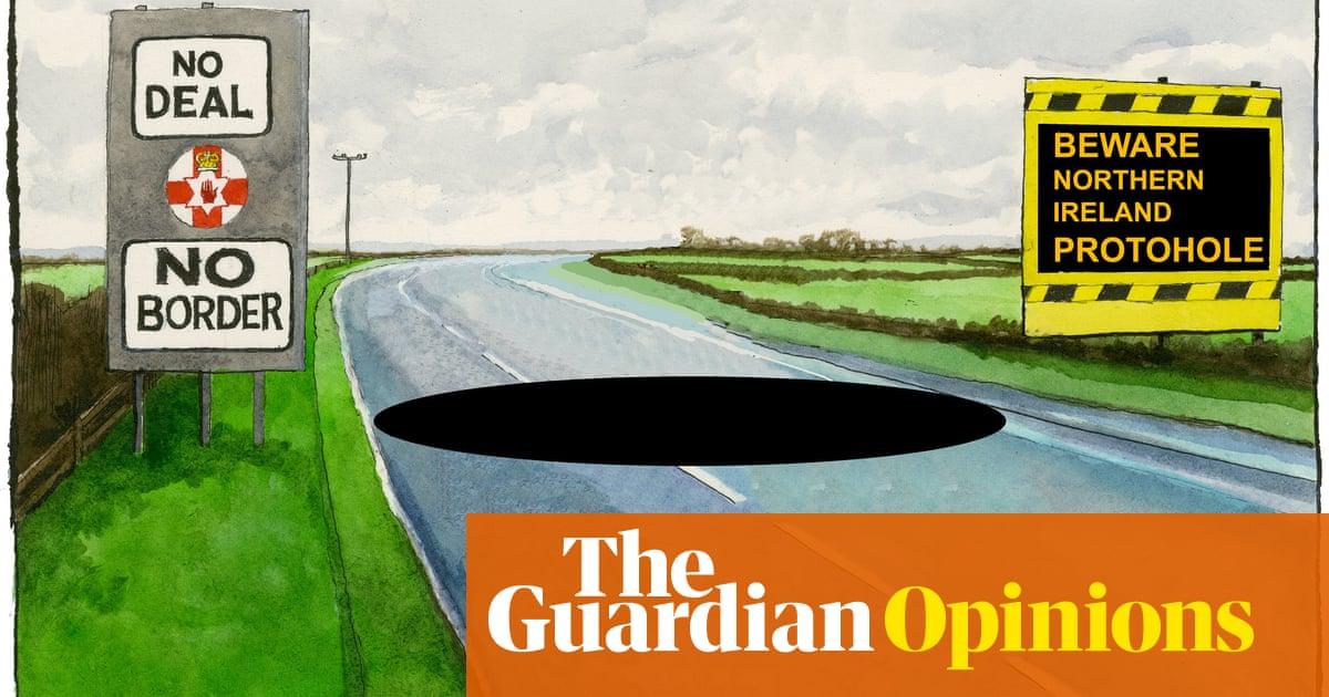 Steve Bell on the Northern Ireland protocol — cartoon